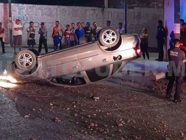 Por conducir ebrio provoca accidente