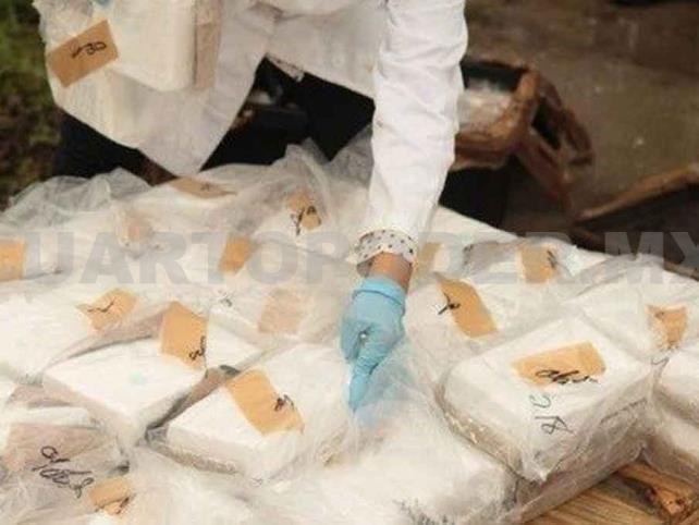 Decomisan cocaína con valor de 6.3 mdp