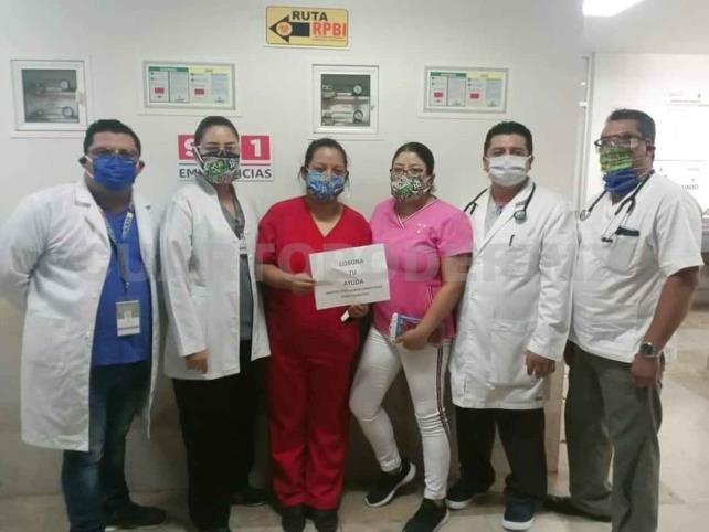 Iniciativa ciudadana apoya a médicos en primera línea