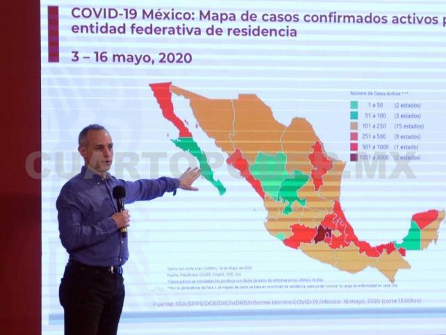 México acumula más de 10 mil casos activos