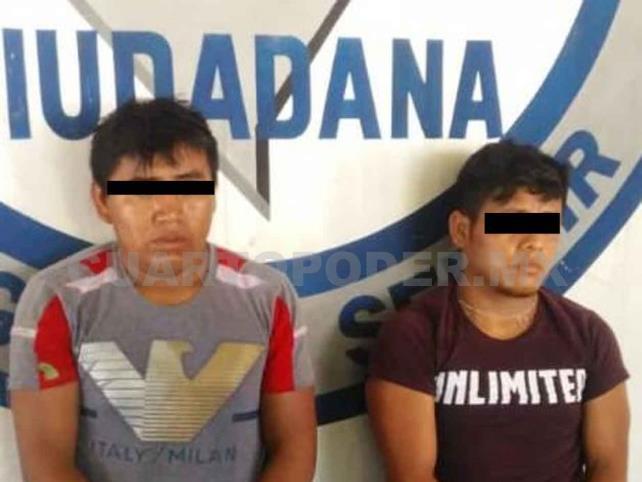 Detienen a dos sujetos por intento de robo y secuestro