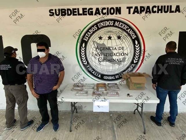 Aseguran casi 11 kilos de cocaína; hay un detenido