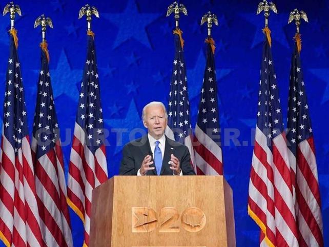 """Biden promete poner fin a una era """"de oscuridad"""""""