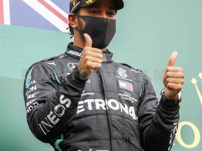 Lewis Hamilton es el ganador del Gran Premio