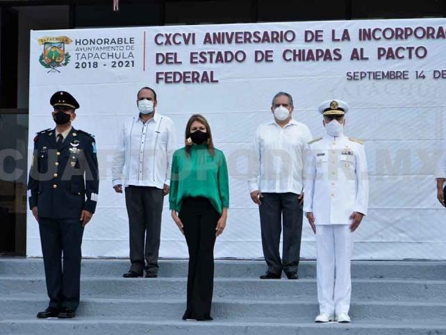 Conmemoran Federación de Chiapas a México
