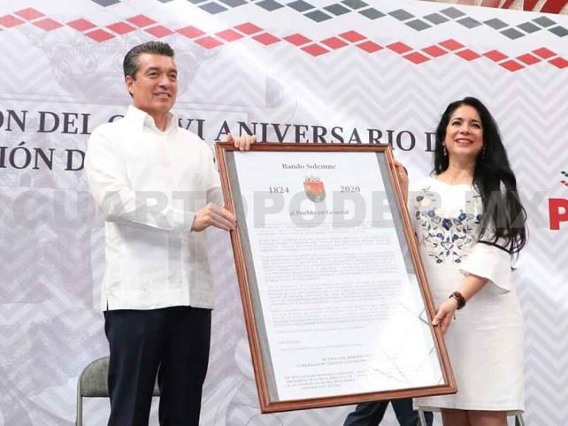 Encabeza festejo de la Federación de Chiapas a México