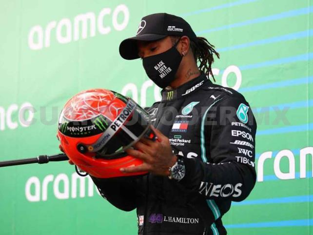 Hamilton iguala en triunfos a Schumacher