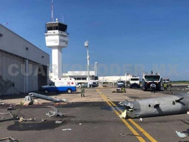 Helicóptero de la Semar se desploma en Tabasco