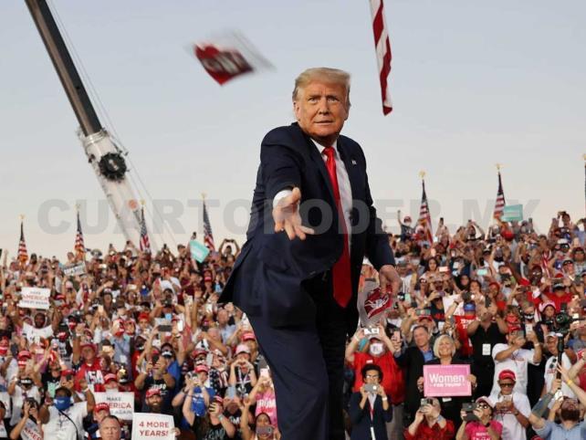 Si pierdo, es posible que abandone el país: Trump