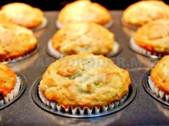 Panqué de plátano en muffin
