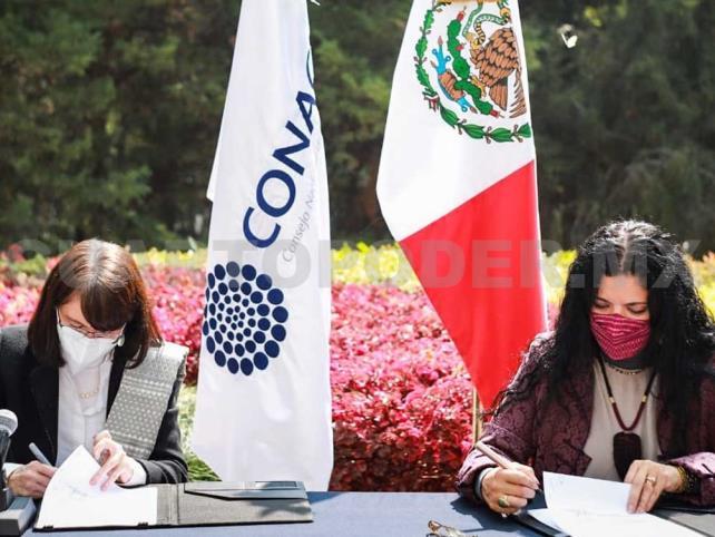 Secretaría de Cultura y Conacyt firman convenio