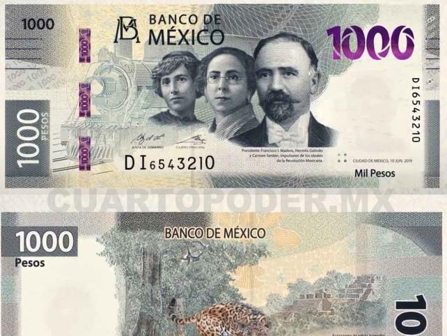 En circulación nuevo billete de mil pesos