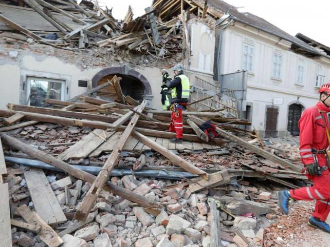 Fuerte sismo sacude a Croacia