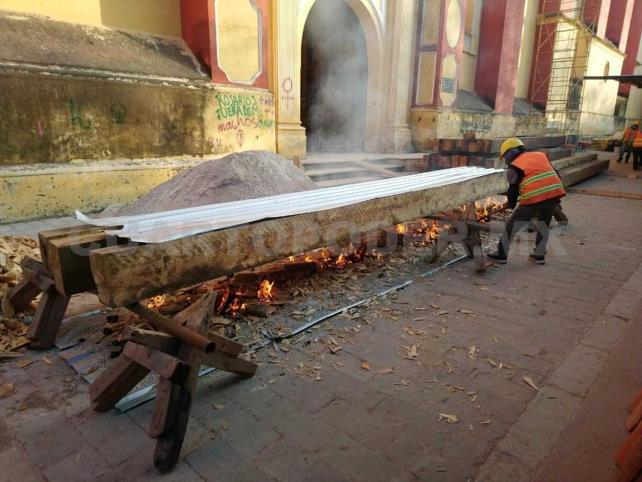 Realizan rehabilitación en la Catedral de San Cristóbal