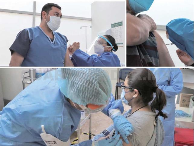 Inicia vacunación contra Covid a personal de salud