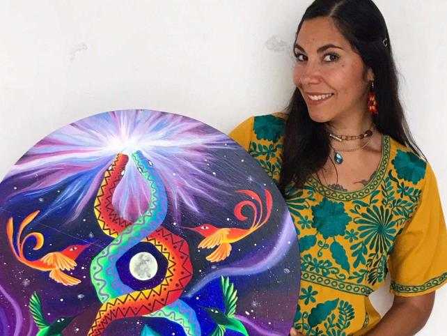 """Tania Peña expone """"Mandalas cósmicos"""""""