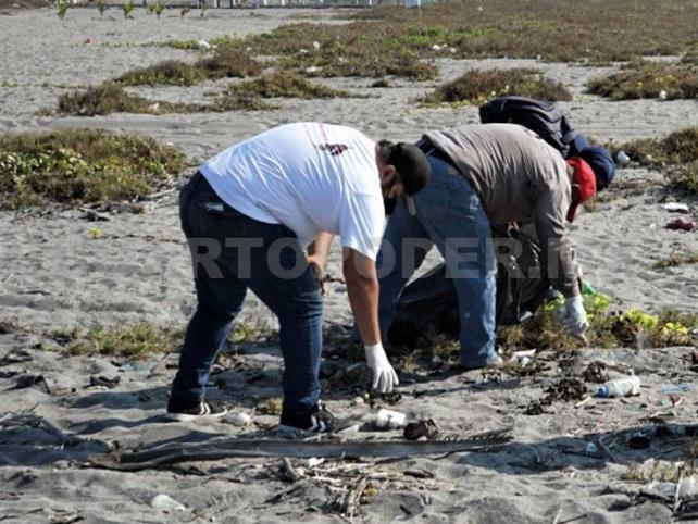 Autoridades trabajan en recuperación de playas