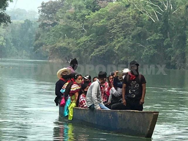 Parte delegación zapatista a Isla Mujeres