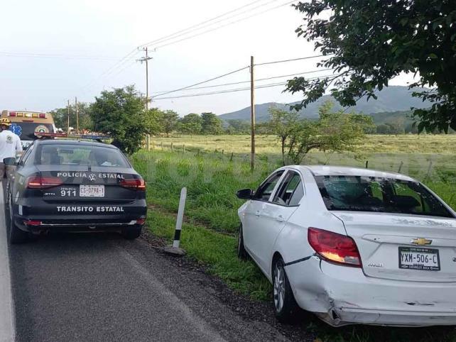 Veloz conductor sufre accidente en la Costera