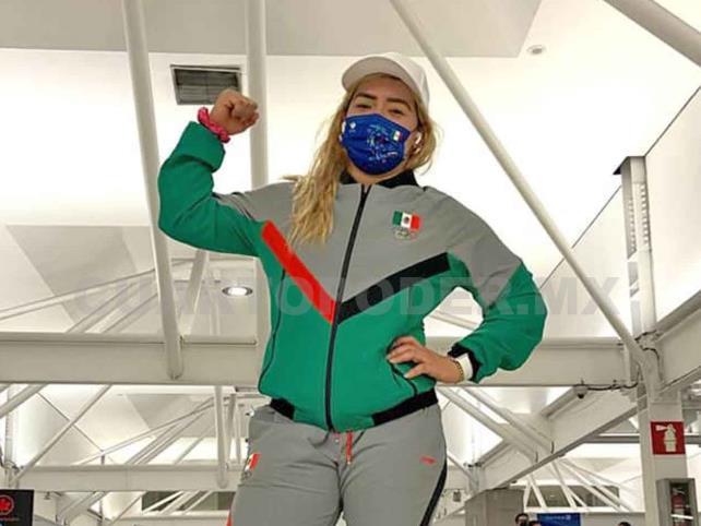 Aremi Fuentes ya está en la sede olímpica