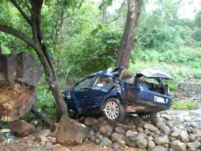 Accidente en la Costera deja a mujer lesionada