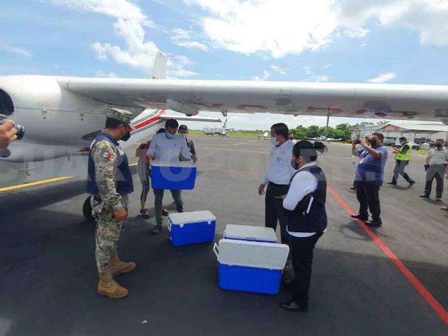 Llegan más de 12 mil vacunas a Tapachula