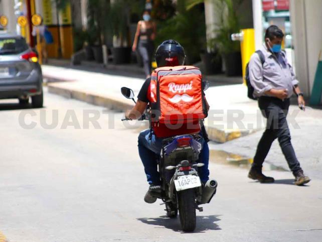 Seis motociclistas se accidentan diariamente