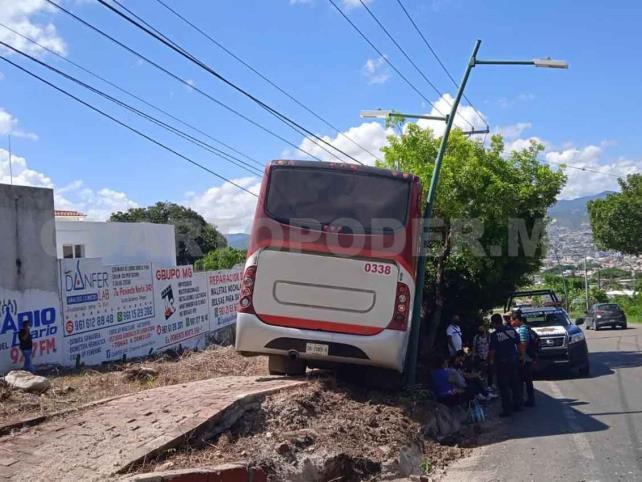Autobús de Arnecom se estrella contra un árbol