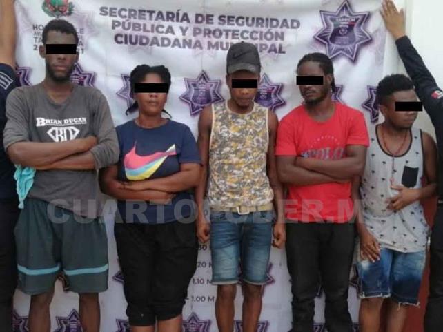 Haitianos son detenidos por ocasionar desmanes
