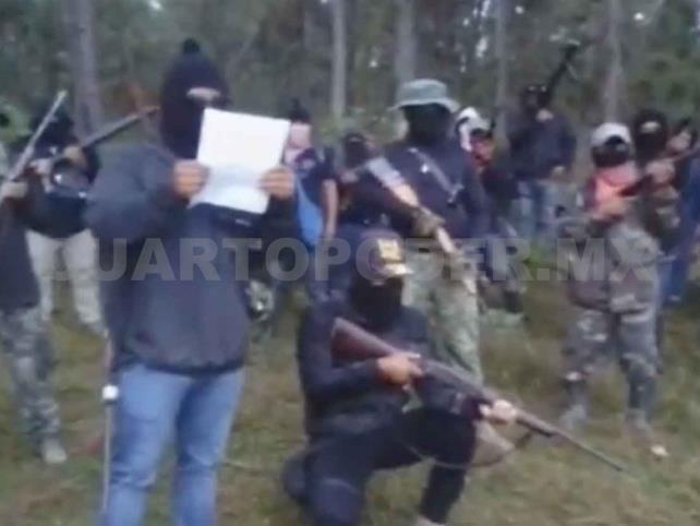 Se deslindan pobladores de supuesto grupo armado